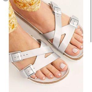 Birkenstock silver Yao hex silver sandal 38